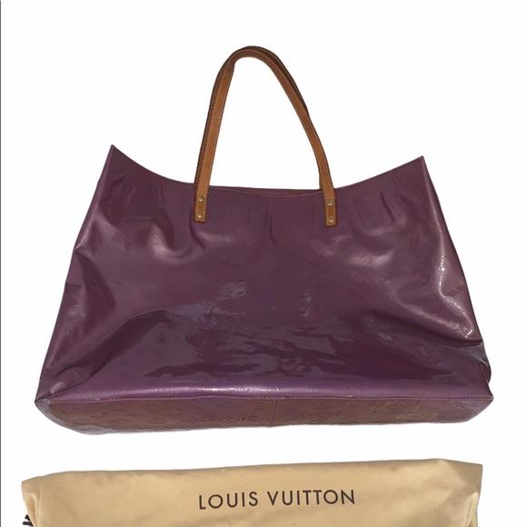 AUTHENTICATED Louis Vuitton XL purple vernis bag